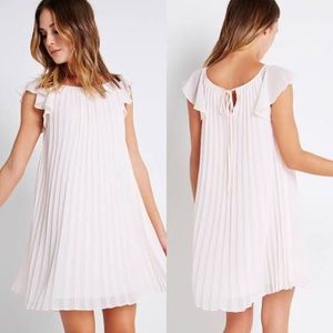 BCBGENERATION light pink pleated dress